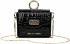 Zwarte IDeal of Sweden Ava Mini AirPods Bag voor Universal Neo Noir Croco