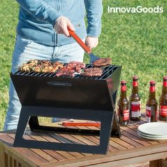 Zwarte InnovaGoods Draagbare en Vouwbare Houtskoolbarbecue