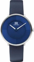 Zilveren Danish Design edelstalen dameshorloge Align Blue IV22Q1283
