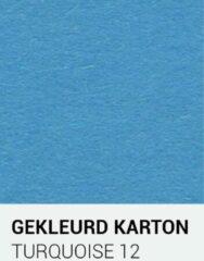 Gekleurdkarton notrakkarton Gekleurd karton turquoise 12 30,5x30,5 cm 270 gr.