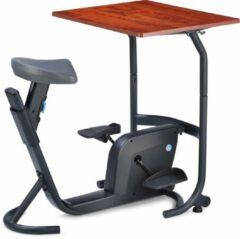 Antraciet-grijze LifeSpan Workplace LifeSpan Bureaufiets 'Unity Bike Desk' incl. bureau! Het actieve bureau met fiets hometrainer voor bij het thuiswerken en op school. Blijf in beweging en gezond met een actieve werkplek van LifeSpan
