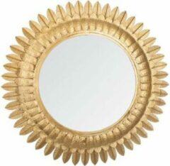 Atmosphera Blaadjes spiegel goud - Metaal - Dia 70cm - Wandspiegel - Spiegel