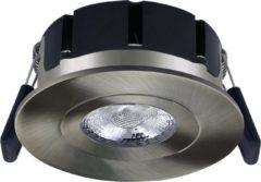 Roestvrijstalen Hoftronic LED inbouwspot Napels IP65 8 Watt 2700K dimbaar 360° kantelbaar RVS
