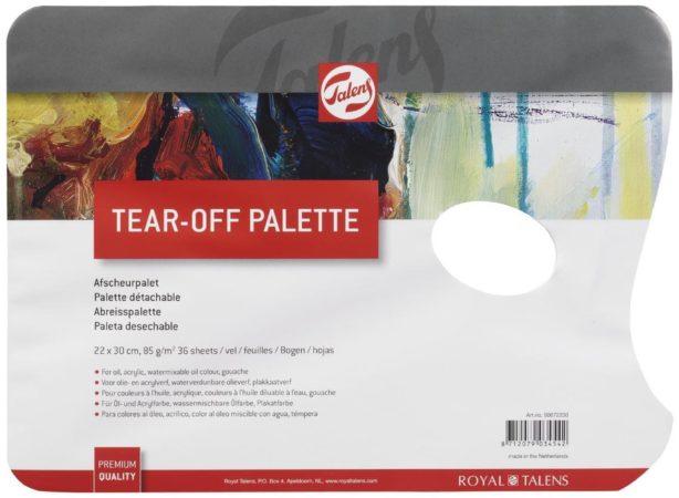 Afbeelding van Talens afscheurbare mengpaletten voor verf, ft 22 x 30 cm, pak met 36 vellen