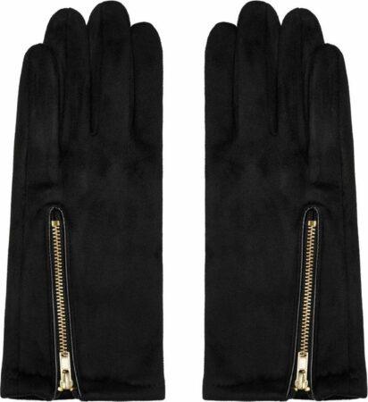 Afbeelding van Gele Yehwang Handschoenen Zip me Up | Zwart