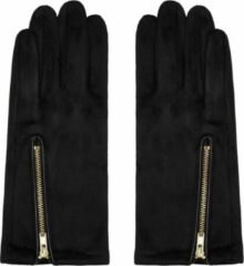 Gele Yehwang Handschoenen Zip me Up | Zwart