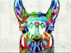 Witte Muismat lama artistiek - Sleevy - mousepad - Collectie 100+ designs