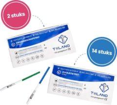 Zwangerschapstest 2 stuks extra vroeg - Ovulatietest 14 stuks extra gevoelige strips - Voordeelpakket - Thuistestenkopen.nl