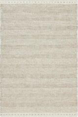 Creme witte Decor24 Schitterend handgeweven vloerkleed van 100% wol - Jaipur - crème - 120x170 cm
