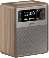 SONORO EASY V2 - Draagbare DAB+ Radio + Bluetooth - Walnoot