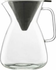 Transparante Bormioli Luigi - Thermic glass drink - Koffiekan met filter inzet