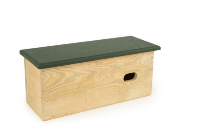 Afbeelding van Wildbird Nestkast Berk Halfholenbroeders - Broeden - 17.5x22.5x30 cm Grijs Groen