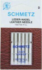 Zilveren Schmetz leernaald - naaimachinenaald leer - 5 naalden 130/705 H LL 110/18