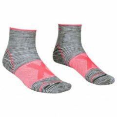 Ortovox - Women's Alpinist Quarter Socks - Multifunctionele sokken maat 42-44, grijs/roze
