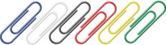 Paperclips Alco 26mm rond doos a 100 stuks assorti kleuren
