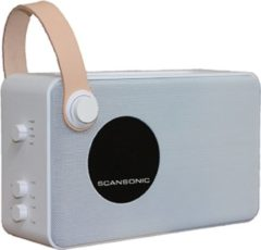 Scansonic PA4600 Portable DAB+/FM Radio met Bluetooth - Wit