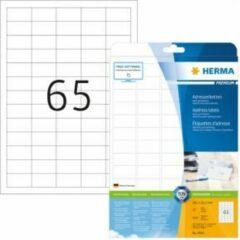 Adresetiketten Herma 4504 Premium A4 38,1x21,2 mm ronde hoeken wit papier mat 1625 st.