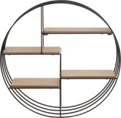 Beliani SANDIA - Wandkast - Lichte houtkleur - Gepoedercoat metaal