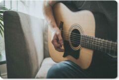 MousePadParadise Muismat Gitaarspelers - Man speelt de akoestische gitaar muismat rubber - 27x18 cm - Muismat met foto