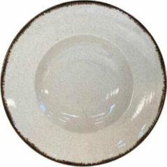 Creme witte Kitchen trend - servies - spaghettibord- ocean creme - set van 6 - rond 27 cm