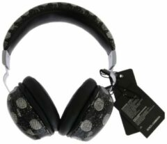 Zwarte Leather Hoofdtelefoon