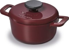 Bordeauxrode BRABANTIA THE DUTCH Gietijzeren braadpan - Ø 20cm - 2,5L - bordeaux - inductie