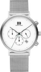 Zilveren Danish Design watches edelstalen herenhorloge Berlin White Mesh IQ62Q1245