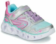 Zilveren Lage Sneakers Skechers Heart Lights