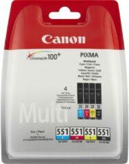 Canon Cartridge CLI-551 BKCMY Origineel Combipack Foto zwart, Cyaan, Magenta, Geel 6509B009 Cartridge multipack