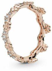 Pandora - Flower Crown Ring - 187924cz - Rosé - Zilver - Zirkoon