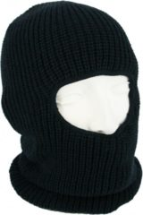Marineblauwe One hole muts / skimuts - navy blauw - one size - outdoor / bivak / wintersport - warme eengaats balaclava