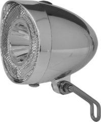 Union Retro LED Koplamp Chroom / Zilver - Op Batterij