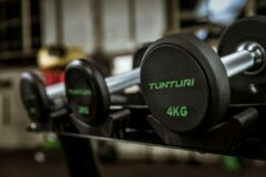 Zwarte Tunturi Pro PU Dumbbell Set 14 t/m 32 kg - 1 paar - Halterset