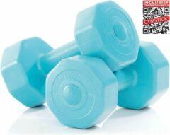 Gymstick Active Vinyl Dumbbell Set - Gewichten - Blauw - 2 x 1kg + Online Trainingsvideo's
