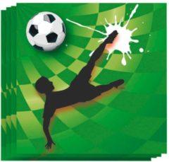 Merkloos / Sans marque Haza Original Servetten Goal! 20 Stuks Groen 25 X 25 Cm