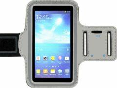 ADEL Sportarmband 5.5 Inch Microfiber Hoesje voor Samsung Galaxy J4 Plus - Grijs