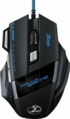 Zwarte Indena G-509 3200 DPI 7-knops USB bedraad kabel Gaming Mouse Muis voor Laptop PC Computer Mac