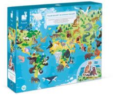Blauwe Janod Bedreigde diersoorten educatieve legpuzzel 200 stukjes