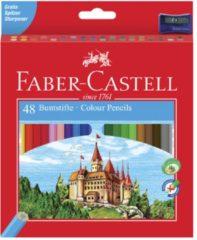 Faber Castell FC-120148 Kleurpotlood Faber-Castell Castle Zeskantig Karton Etui Met 48 Stuks