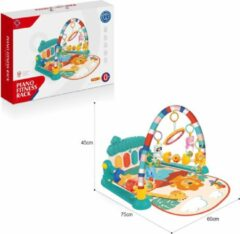 FDBW Baby Speelkleed – 0 jaar | Baby Speelmat Gym – Jungle | Speelkleed Met Boog | Interactief Speelkleed – Turquoise – 75x60x45cm