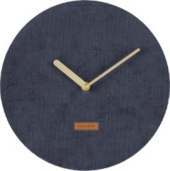 Donkerblauwe Karlsson Wall Clock - Corduroy Dark Blue