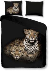 Bettwäsche Leopard Good Morning schwarz