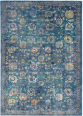 Impression Rugs Picasso Sarough Vintage Vloerkleed Blauw Laagpolig - 160x230 CM
