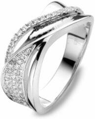 Velini jewels -R6852W-60 -Ring -925 Zilver gerodineerd -Cubic Zirkonia
