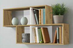 FD Furniture Wandrek Lendy 100 cm breed in artisan met wit
