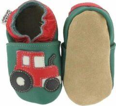 Hobea - babyslofjes - tractor - groen