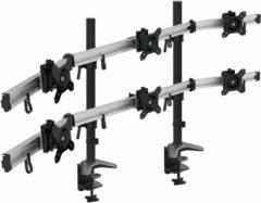 """Zwarte Home Office - VIISAN - MP260C-N Zes 6 Monitor Bureau Bevestiging Standhouderbeugel controle centrum draaibare kantel voor schermmonitor 15 """"tot 27"""" inch met VESA 75/100"""