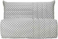 Comfort Bultex BULTEX BZ BECCI Zitbank 3 plaatsen - B 142 x D 101 cm - Zwart-witte stof