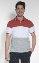 Donkerrode Campbell Heren Poloshirt Maat S