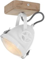 Mexlite Harve plafondlamp | koplamp | inclusief LED lichtbron | dim to warm | draai- en kantelbaar | wit